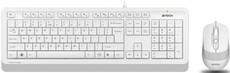 Клавиатура + мышь A4Tech Fstyler F1010 White