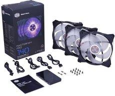 Вентилятор для корпуса Cooler Master MasterFan Pro 140 Air Pressure RGB (MFY-P4DC-153PC-R1)