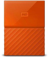 Внешний жесткий диск 1Tb Western Digital My Passport Orange (WDBBEX0010BOR)