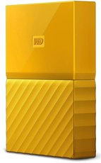 Внешний жесткий диск 1Tb Western Digital My Passport Yellow (WDBBEX0010BYL)