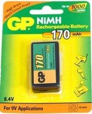 Аккумулятор GP (9V, NiMH, 170mAh, 1 шт)