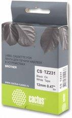 Лента для печати наклеек Cactus CS-TZ231