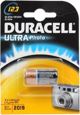 Батарейка Duracell Ultra/High Power (CR123, Lithium, 1 шт)