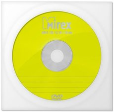 Диск DVD-R Mirex 4.7Gb 16x Paper Cover (1шт) (205111)