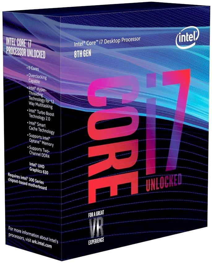 Процессор Intel Core i7 - 8700K BOX (без кулера)