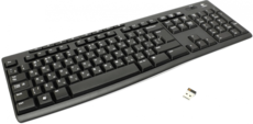 Клавиатура Logitech K270 Wireless Keyboard Black USB
