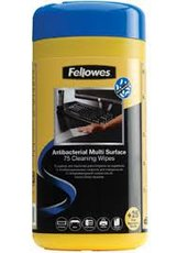 Fellowes Multi Surface Cleaning Wipes салфетки для любых поверхностей, туба, 100шт (FS-22109)