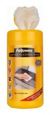 Fellowes Multi Surface Cleaning Wipes салфетки для любых поверхностей, туба, 100шт (FS-99715)