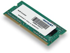Оперативная память 4Gb DDR-III 1600Mhz Patriot SO-DIMM (PSD34G160081S)