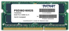 Оперативная память 8Gb DDR-III 1600Mhz Patriot SO-DIMM (PSD38G16002S)