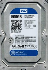 Жсткий диск 500Gb SATA-III Western Digital Blue (WD5000AZLX)
