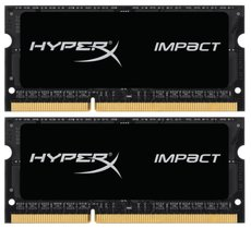 Оперативная память 8Gb DDR-III 2133MHz Kingston HyperX Impact SO-DIMM (HX321LS11IB2K2/8) (2x4Gb)