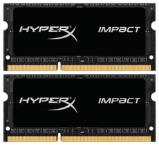 Оперативная память 8Gb DDR-III 1866MHz Kingston HyperX Impact SO-DIMM (HX318LS11IBK2/8) (2x4Gb KIT)