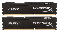 Оперативная память 8Gb DDR-III 1600MHz Kingston HyperX Fury (HX316LC10FBK2/8) (2x4Gb KIT)