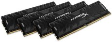 Оперативная память 64Gb DDR4 3600MHz Kingston HyperX Predator (HX436C17PB3K4/64) (4x16 KIT)