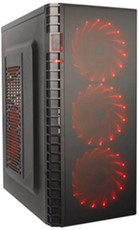 Корпус Exegate EVO-7215 600W Black/Red