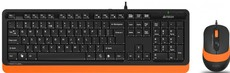 Клавиатура + мышь A4Tech Fstyler F1010 Black/Orange