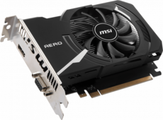 Видеокарта nVidia GeForce GT1030 MSI PCI-E 2048Mb (GT 1030 AERO ITX 2GD4 OCV1)