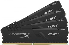 Оперативная память 128Gb DDR4 3000MHz Kingston HyperX Fury Black (HX430C16FB3K4/128) (4x32 KIT)