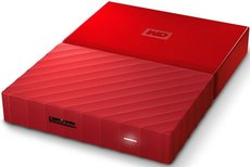 Внешний жесткий диск 1Tb Western Digital My Passport Red (WDBBEX0010BRD)